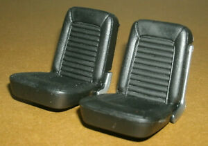1/18 Scale Front Seats from 1964 Mustang Model (2) Plastic Miniature Car Parts