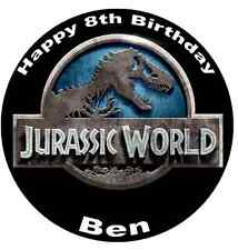 """Jurassic World Park Personalised Cake Topper Edible Wafer Paper 7.5"""""""