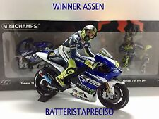 MINICHAMPS VALENTINO ROSSI 1/12 SET YAMAHA + FIGURE 2013 WINNER GP ASSEN NEW