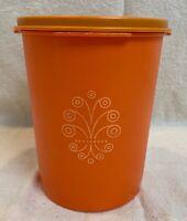 Vintage Orange Tupperware Servalier Storage Container