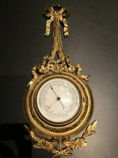 Antique French Barometer Brass in excellent condition