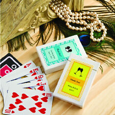 75 Personalized Playing Cards Wedding Party Shower Event Favor Bulk Lot