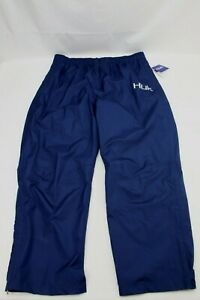 HUK Mens CYA Packable Rain Pants Size XXXL 3XL Navy Blue NEW MSRP $104.99