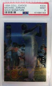 1994 COLL CHOICE Michael Jordan #204 GOLD SIGNATURE Platinum Foil! Rare PSA 9 !!