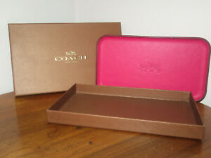 """COACH LEATHER TRAY MAGENTA COLLECTIBLE 8"""" X 4.5"""""""