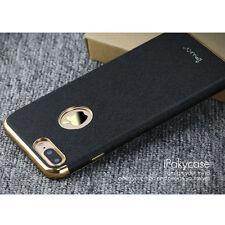 Coque Étui de Protection Dorsale Cuir PU pour Apple pour iPhone 7 Plus Noir