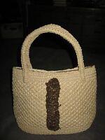 Sears Roebuck & Co. Vintage 1960's Made in Japan Faux Sisal Weave Handbag Purse