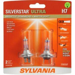Sylvania H7 Silverstar ULTRA NIGHT VISION Halogen Headlight Bulbs Pack of 2