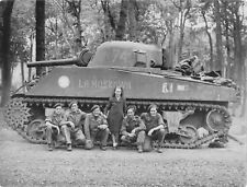 """WWII photo The crew of the M4A2 tank """"La Moscowa"""" world war/80q"""