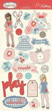 """PHOTO PLAY PAPER """"PAPER DOLLS"""" 12X6 CHIPBOARD  SCRAPJACK'S PLACE"""