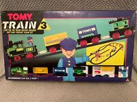 Tomy Train 3 Freight Train Set WORKING CONDITION - BOXED ONLY MISSIN A FEW ITEMS
