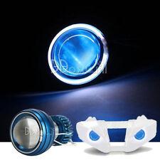 White Halo Angel Blue Demon Eye Headlight For Kawasaki Ninja ZX-6R 2007 2008