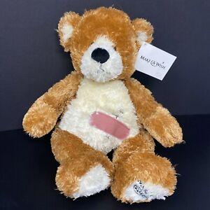 "Gund Plush Make A Wish Bear Carter Band Aid Stitches 46413 15"" Stuffed NWT"