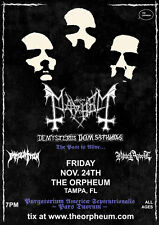 MAYHEM / IMMOLATION / BLACK ANVIL 2017 TAMPA, FL CONCERT TOUR POSTER-Black Metal