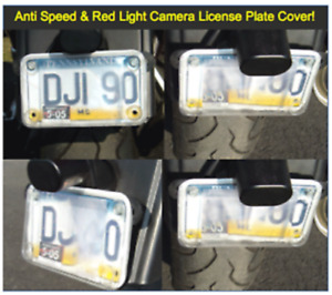 Red Light & Speeding Camera Blocker MOTORCYCLE License Plate Cover - 2020 Model