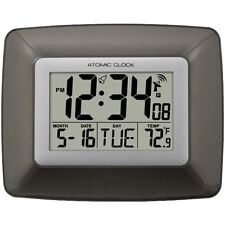 La Crosse Technology WS-8008U-IT Atomic Digital Wall Clock with Temperature