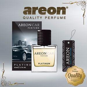 Areon Luxury Car Perfume Long Lasting Air Freshener TOP QUALITY - PLATINUM 50ml