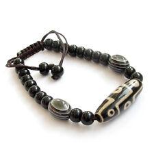 Agate Gemstone Heaven Nine Eyes Bead Tibet Buddhist Prayer Beads Mala Bracelet