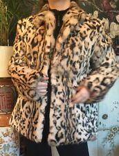 Vintage Fur Coat Hollies Of Stockholm Leopard Print Rabbit Fur Size 16 Beau