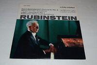 Rachmaninoff Concerto No. 2~Liszt Concerto No. 1~Rubinstein~FAST SHIPPING