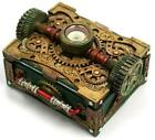 Colonel J. Fizziwigs Steampunk Trinket Box with Compass