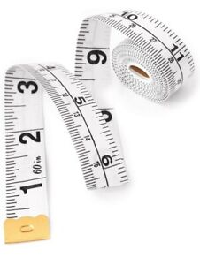 Tape Sewing Tailor Fabric Body Measure Measuring Tapes Ruler Soft Flat - White
