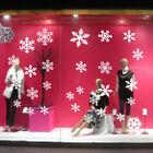 Christmas Window Snow Flake Stickers Xmas Winter Decorations SK