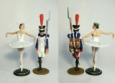 PAINTED!  The Steadfast Tin Soldier and Ballerina / Tin figure 54 mm