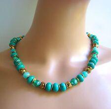Handgefertigt Modeschmuck-Halsketten & -Anhänger mit Türkis für Damen