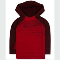 New Nike Little Boys Dri-FIT Long Sleeves Pullover Hoodie Size 4 Red MSRP $44.00