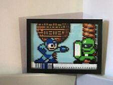 Mega Man Shadow Box Perler Art NES 8 bit Pixel Nintendo