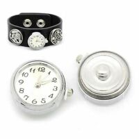 1PC Charm Fashion Fit Jewelry Bead DIY Clock Watch For Bracelet Snap Button