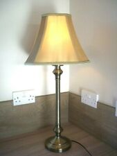 Brushed Nickel Finish Table Lamp | Round Base with Quality Gold shade~54cm tall