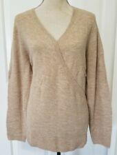 NWT Old Navy Maternity Nursing Sweater size XL extra large - V-neck/tan/camel