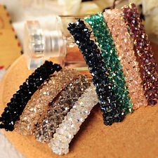 Fashion Women Girls Bling Headwear Crystal Rhinestone Hair Clip Barrette Hairpin