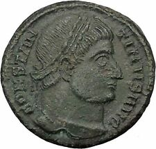 Constantine I The Great  328AD Ancient Roman Coin Military camp Bivouac i32418