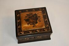 More details for tunbridge ware rosewood waisted box
