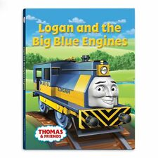 LOGAN & THE BIG BLUE ENGINES BOOK Thomas Tank Engine Friends WOODEN Railway NEW