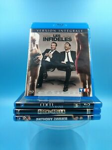 lot de 4 film blu ray VF infideles coco chanel rock n rolla anthony zimmer