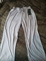 New Salloos White Luke Trousers Size 14