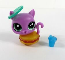 Littlest Pet Shop LPS Hungry Pets Collectors Edition Burger Cat NEW