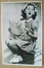 More details for postcard- violet elizabeth child postcard with hand signed autographed,dt.6/6/46