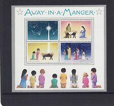 "CHRISTMAS Island 1981 Christmas MINISHEET ""AWAY IN A MANGER  ""  SONG MNH -"
