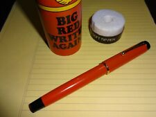 Parker Big Red Soft Tip Pen - In Presentation Tube - Orange with Gold Trim