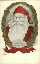 Christmas - Santa Claus DO YOU LOVE THIS OLD MAN? c1910 Postcard