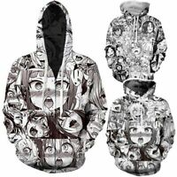 Ahegao Anime Face Hentai Manga Men 3D Hoodie Sweatshirt Pullover Jumper Zip Coat