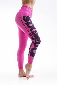 Six Deuce All Coloured Fitness Leggings Pink Bodybuilding Fitness