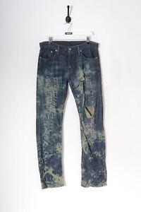 Vintage Levis 514 Délavé Jeans Jambe Droite Bleu Foncé Délavé (W32 L32)