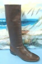 ANNE KLEIN Womens Riding Sz 8.5 Tall Boots Knee High  Brown Leather  Slip On