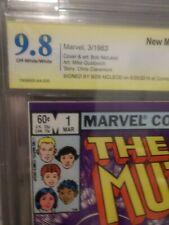 New Mutants 1 CBCS SS 9.8 Bob McLeod Signed X Men 1983 Not CGC - GREAT MOVIE TOO